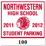 Parking Decal L-101