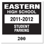 Parking Decal L-102
