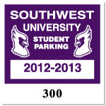 Parking Decal L-103