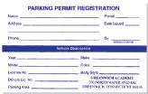 Registration Form RF-1 - Parking Permit Outlet - Lees